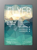 Vector Brochure Flyer Design Layout Templates. Abstract polygona Stock Images