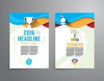 Vector brochure, flyer, magazine cover booklet poster design tem Stock Photo