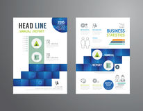 Vector brochure, flyer, magazine cover booklet poster design. Stock Images