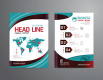 Vector brochure, flyer, magazine cover booklet poster design. Stock Photos