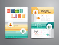 Vector brochure, flyer, magazine cover booklet poster design. Royalty Free Stock Photo