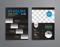 Vector brochure, flyer, magazine cover booklet Royalty Free Stock Photography