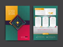 Vector brochure, flyer, magazine cover and poster template. Vector illustration Stock Images