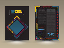 Vector brochure, flyer, magazine cover and poster template. Stock Photography