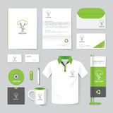 Vector brochure, flyer, magazine, folder, shirt,cover booklet poster mockup Royalty Free Stock Photos