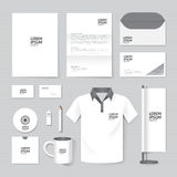 Vector brochure, flyer, magazine, folder, t-shirt,cover booklet poster mock up Royalty Free Stock Photo