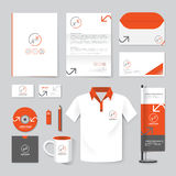 Vector brochure, flyer, magazine, folder, t-shirt,cover booklet. Poster mockup design template/ layout stationery annual report A4 size/ set of corporate royalty free illustration