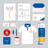 Vector brochure, flyer, magazine, folder, t-shirt,cover booklet. Poster mockup design template/ layout stationery annual report A4 size/ set of corporate Royalty Free Stock Photo