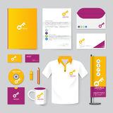 Vector brochure, flyer, magazine, folder, t-shirt,cover booklet. Poster mockup design template/ layout stationery annual report A4 size/ set of corporate Stock Photo