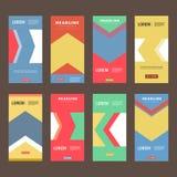 Vector brochure flyer modern design template Stock Photography