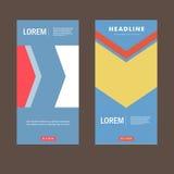Vector brochure flyer modern design template Royalty Free Stock Images