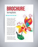Vector brochure and flyer, poster template with abstract beautiful watercolor butterfly on a flower. Typography flyer invitation v Royalty Free Stock Photos