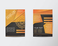 Vector Brochure Flyer Thai style template in A4 size Royalty Free Stock Photography