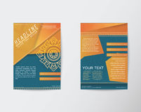 Vector Brochure Flyer Thai style template in A4 size Royalty Free Stock Image
