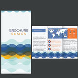 Vector Brochure Layout. Design template Stock Photography