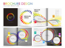 Vector brochure layout design template Royalty Free Stock Image