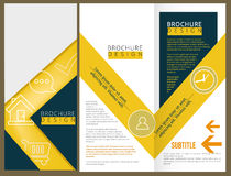 Vector Brochure Layout Design Royalty Free Stock Images