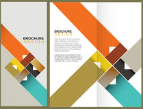 Vector Brochure Layout Design. Template Royalty Free Stock Photo