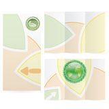 Vector Brochure Layout Design Stock Image