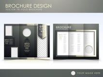 Vector brochure layout design template Stock Image