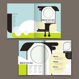 Vector brochure layout design template Royalty Free Stock Photo