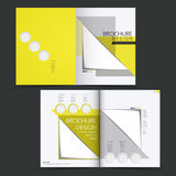 Vector brochure layout design template Royalty Free Stock Photography