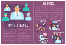 Vector brochure of medical or hospital personnel Stock Photo