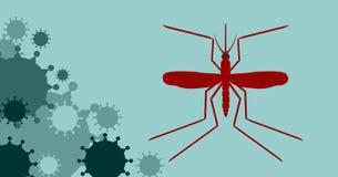 Vector brochure, report or flyer design template. Virus diseases relative Stock Image