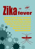 Vector brochure, report or flyer design template. Zika fever relative Royalty Free Stock Images