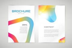 Vector brochure template. Abstract arrow design Stock Images