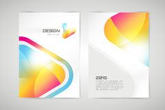 Vector brochure template. Abstract arrow design. And creative identity idea, blank, paper. Stock illustration.  on white background Royalty Free Stock Photos