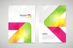 Vector brochure template. Abstract arrow design. Vector globe brochure template. Abstract arrow design and creative magazine idea, blank, book cover or banner Royalty Free Stock Photos