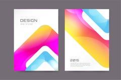 Vector brochure template. Abstract arrow design. Vector globe brochure template. Abstract arrow design and creative magazine idea, blank, book cover or banner Stock Image