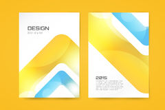 Vector brochure template. Abstract arrow design Royalty Free Stock Photography