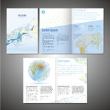 Vector brochure template Stock Images