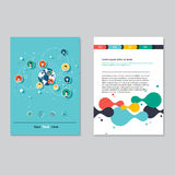 Vector brochure template design.  Abstract Backgrounds,Flat Info Royalty Free Stock Images