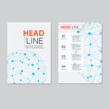 Vector brochure template design.  Abstract Backgrounds,Flat Info Royalty Free Stock Photography
