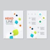 Vector brochure template design. Stock Photography