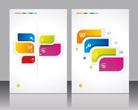 Vector brochure template design. With abstract elements Vector Illustration