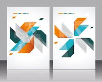Vector brochure template design Stock Image