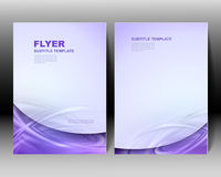 Vector brochure template design Stock Photography