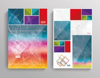 Vector brochure template design with bright cubes Royalty Free Stock Photos