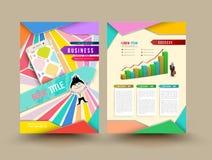 Vector brochure template design. Royalty Free Stock Photo