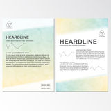 Vector brochure template design with circel elements. royalty free illustration
