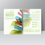Vector brochure template. Design with colored crystals, trellis structure. Flyer or booklet Layout Royalty Free Stock Image