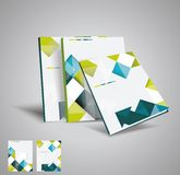 Vector  brochure template. Design with cubes and arrows elements Vector Illustration