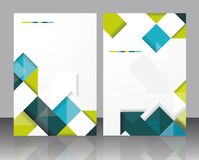 Vector  brochure template design with cubes and arrows elements. Royalty Free Stock Images