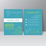 Vector brochure template design Stock Image