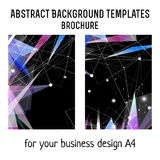 Vector brochure template design with geometric elements. A4 poster Royalty Free Stock Image