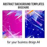 Vector brochure template design with geometric elements. A4 poster Royalty Free Stock Images